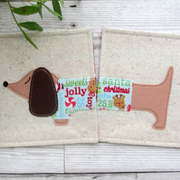 Christmas Coasters, Sausage Dog Gift