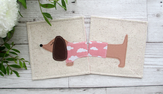Dachshund Coasters, Gift For A Dog Lover