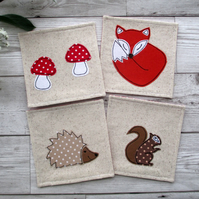 Woodland Coaster Set