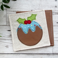 Christmas Pudding Coasters,Set Of Two