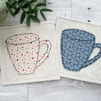 Fabric Mug Coasters, Housewarming Gift