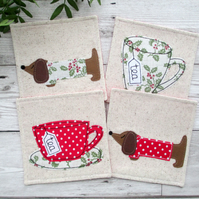 Festive Coaster Set, Christmas Coasters