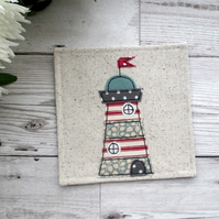 Lighthouse Coaster, Nautical gift