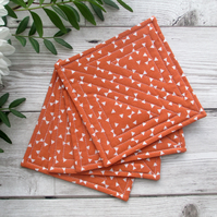Fabric Coaster Set, Quilted Coasters