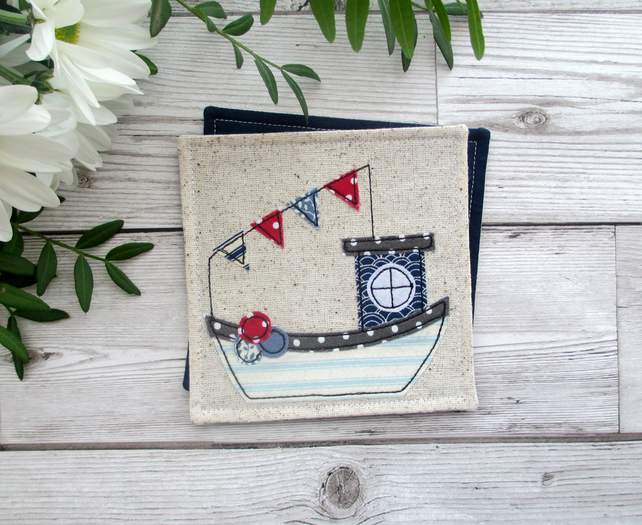 Fishing Boat Coaster, Nautical Gift