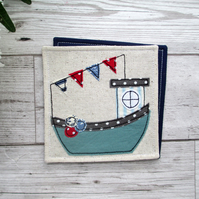 Fishing Boat Coaster, Gift For Him