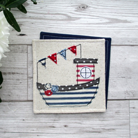 Cornish Fishing Boat Coaster