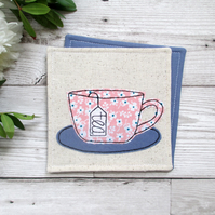 Pretty Pink Tea Cup Coaster