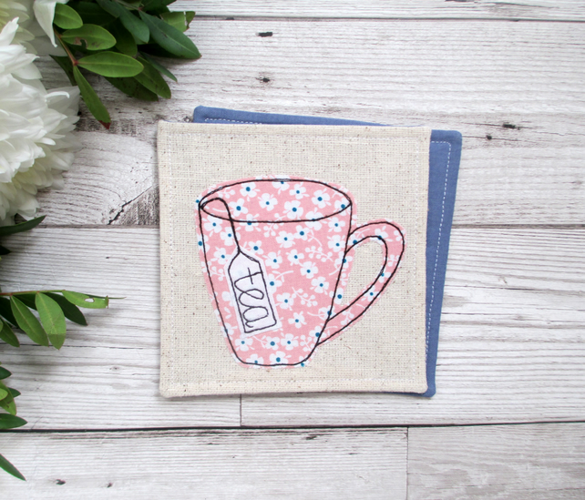 Pink Mug Coaster, Tea Lover Gift