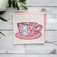 Red Floral Tea Coaster