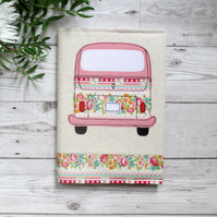 A5 Fabric Notebook, Camper Van Gift