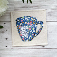 Blue Floral Tea Coaster