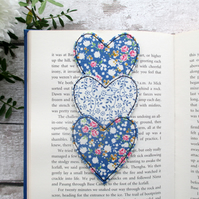 Heart Trio Bookmark, Gift For A Book Lover