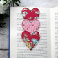 Red Floral Fabric Bookmark