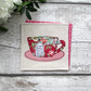 Red & Pink Floral Tea Cup Coaster