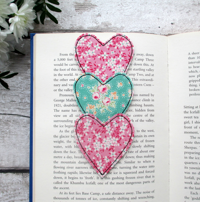 Heart Trio Bookmark, Book Lover Gift