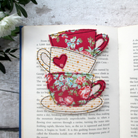Fabric Bookmark, Tea Lover Gift
