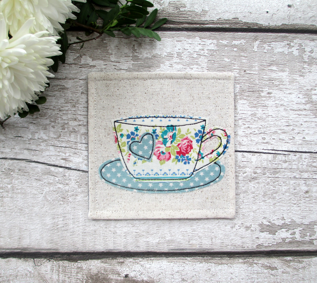 Cup Coaster, Gift For A Tea Or Coffee Lover