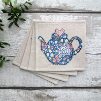 Teapot Coaster Set, Afternoon Tea Set
