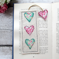 Fabric bookmark, reading gift