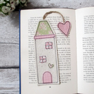 Tall house bookmark, gift for a bookworm