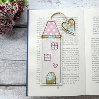 Tall house bookmark, quirky reading gift
