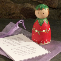 Strawberry Fairy Worry Doll