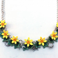Daffodil necklace, handmade, boho