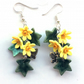 Daffodil earrings, handmade, boho