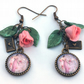 Pride and Prejudice earrings - pink