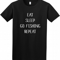 Eat, Sleep, Go fishing, Repeat Unisex t-shirt