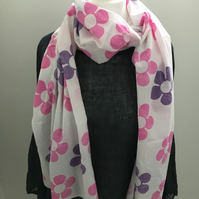 Magenta and Purple Retro Inspired Scarf