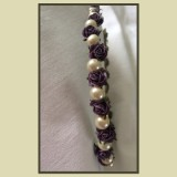 flower and pearl headband