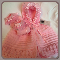 pink baby girl cape