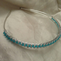 Blue sparkle headband