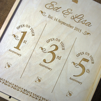 Wooden Engraved Winebox - an ideal wedding gift