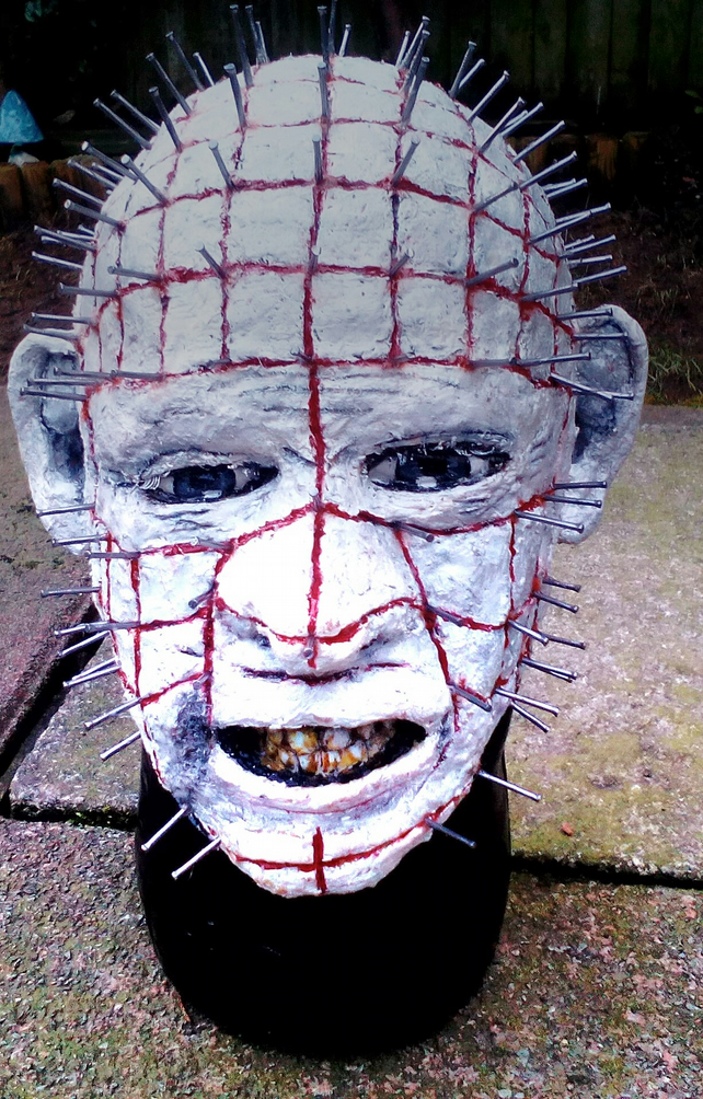 Pinhead Bust inspired from Hellraiser. Also, Chucky and Joker busts.