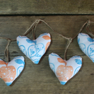 Orchard Blossom Heart Bunting