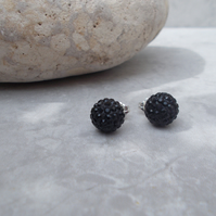 10mm Shamballa Studs Black (85B)