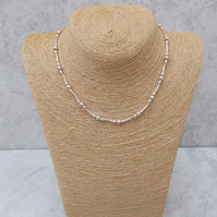 Sterling Silver Necklace approx 16 inch