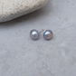 10 mm Grey Freshwater Pearl Studs