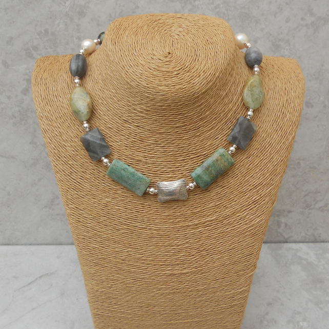 Mixed Gemstone Necklace (N15)