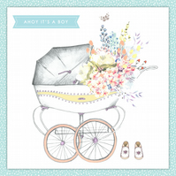 New Baby Card - Handmade