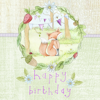 Bramble Woods Happy Birthday Card - Handmade