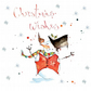 Handmade Snowman Christmas Card, snow scene, personalised, customised, robin,