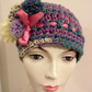 Rainbow Easter Stripe Beanie Hat Ladies Hat Pom poms
