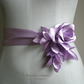 lilac sash belt, flower sash belt, fabric flower lilac, lilac wedding