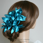 wedding fascinator, blue fascinator, turquoise fascinator