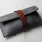 Leather Pencil Case - Grey
