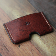 Personalised Leather Card Holder, Card Wallet